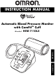 Omron AUTOMATIC BLOOD PRESSURE MONITOR WITH COMFIT CUFF HEM-711DLX Instruction Manual