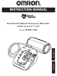Omron HEM-780 Instruction Manual