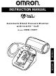 Omron HEM-790IT Instruction Manual