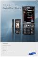 Samsung SGH-I550 Quick Start Manual
