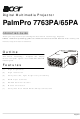 Acer PalmPro 7763PA Operating Manual