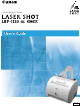 Canon Laser Shot LBP-1120 User Manual