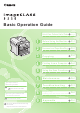 Canon imageCLASS D550 Basic Operation Manual