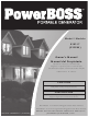 Briggs & Stratton PowerBoss 30217 Owner's Manual