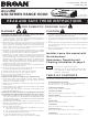 Broan QS3 SERIES Owner's Manual