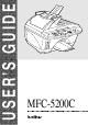 Brother Model MFC-5200C User Manual