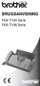 Brother BRUGSANVISNING FAX-T104 User Manual