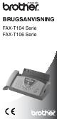 Brother BRUGSANVISNING FAX-T104 User Manual