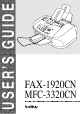 Brother FAX 1920CN User Manual