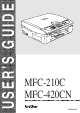 Brother MFC-420CN User Manual