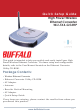 Buffalo Buffalo AirStation Turbo G High Power WLI-TX4-G54HP Quick Setup Manual