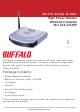 Buffalo Buffalo AirStation Turbo G High Power WLI-TX4-G54HP Quick Setup Manual