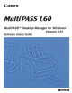 Canon MultiPASS L60 Software User's Manual