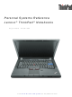 Lenovo ThinkPad 2771 Reference Manual