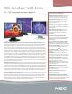 NEC AccuSync LCD203WXM Brochure
