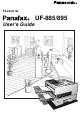 Panasonic UF-885 User Manual