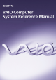 Sony VAIO PCV-RX740 Reference Manual