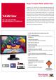 Viewsonic VA2016W Specifications