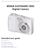 KODAK CD82 - EXTENDED GUIDE Extended User Manual