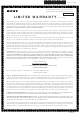 Sony CMT-V50iP Limited Warranty