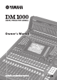 Yamaha DM1000 Owner's Manual