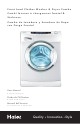 HAIER HWD 1500 User Manual