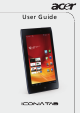 Acer ICONIA Tab A100 8GB User Manual