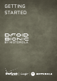MOTOROLA DROID BIONIC Getting Started Manual