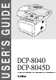 Brother DCP-8040 User Manual