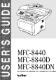 Brother MFC-8440 User Manual