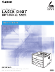 Canon Laser Shot LBP3300 User Manual