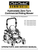 Cub Cadet 48-inch/54-inch/60-inch/72-inch Operator's And Service Manual