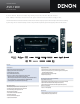 Denon AVR-1909 Specification Sheet