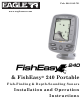 Eagle FishEasy 240 Portable Installation And Operation Instructions Manual