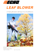 Echo LEAF BLOWER Training Manual