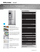 Electrolux Icon E23BC78ISS Specification Sheet
