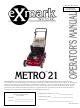 Exmark Metro 21 Operators Manual