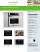 Frigidaire FGEW3045KB - 30IN SINGLE OVEN 3RD ELEMENT CONVECTION TRUE HIDDEN BAKE 8 P Specifications