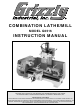 Grizzly G0516 Instruction Manual