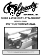 Grizzly G2891 Instruction Manual