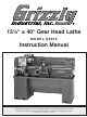 Grizzly G4016 Instruction Manual