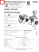 Graco ULTRA R MAX 695 309067 Instructions-parts List Manual