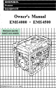 Honda EMS4000 Owner's Manual