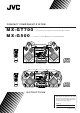 JVC MX-GT700 Instructions Manual
