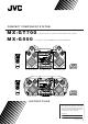 JVC MX-GT700 Instructions Manual