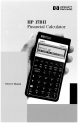 HP 17BII - Financial Calculator Owner's Manual