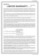Sony CDX-GT360MP Limited Warranty