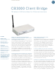 Motorola CB3000 - Client Bridge - Wireless Access Point Specification Sheet