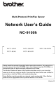 Brother NC9100H - NC 9100h Print Server Network User's Manual