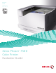 Xerox 7500DX - Phaser Color LED Printer Evaluator Manual